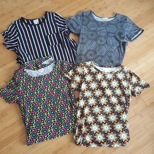 EUC bundle of 4 XS LuLaRoe Carly dresses